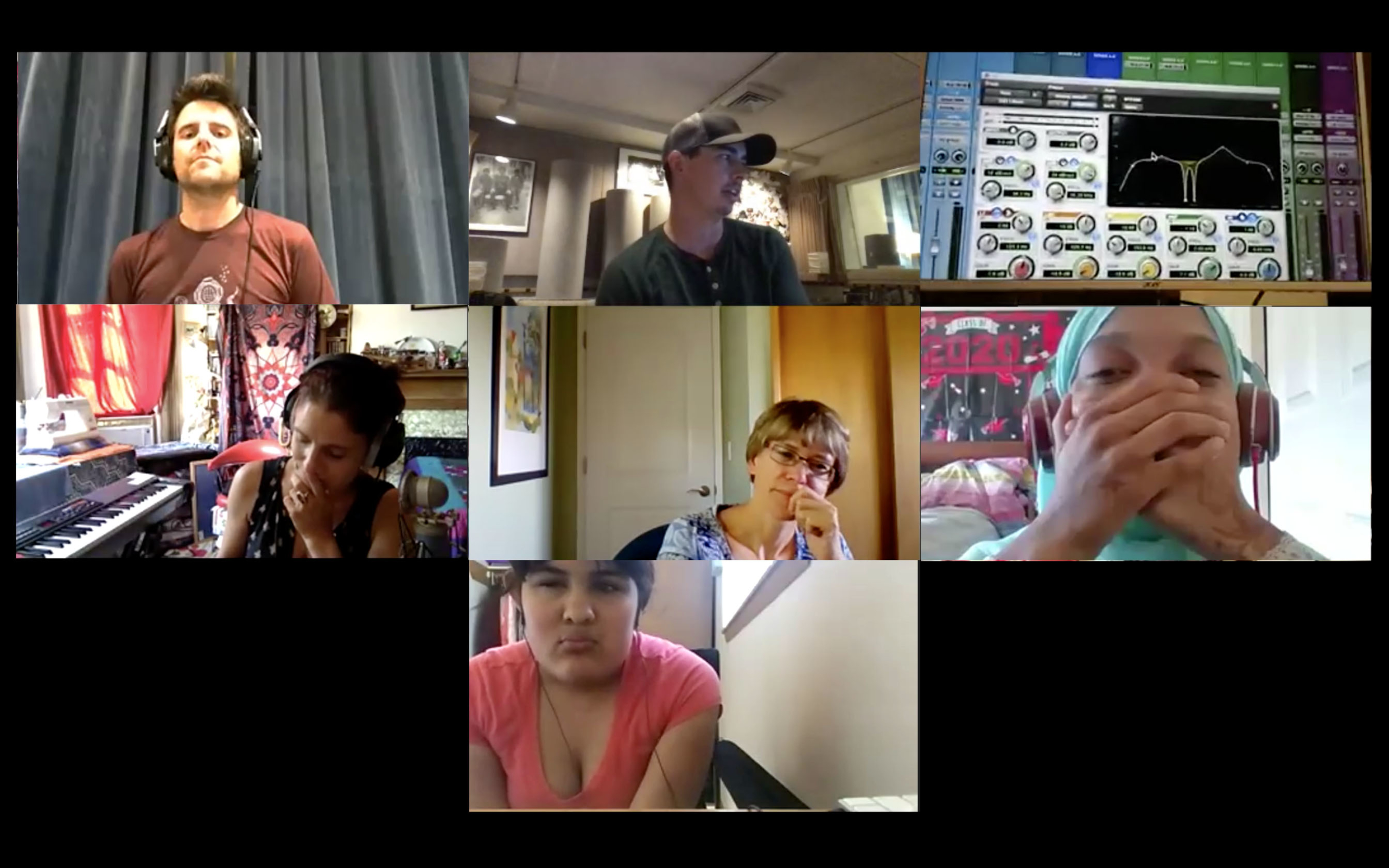 Blind Youth students and teaching artists on Zoom